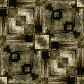 art vintage geometric ornamental pattern, background in sepia, grey and black colors