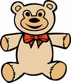 stock photo of teddy bear  - Vector illustrated teddy bear toy on white background - JPG