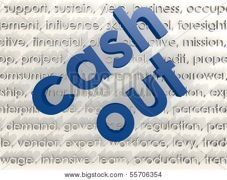 Cash out word cloud