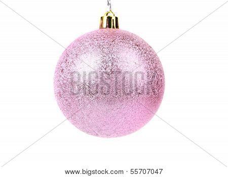 Pink dull christmas ball