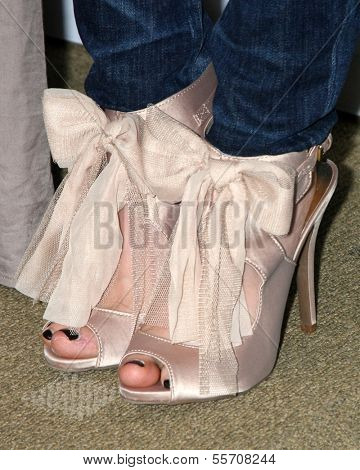 LOS ANGELES - DEC 18: Close-up of Dove Cameron's shoes at the Premiere Of Disney Channel's
