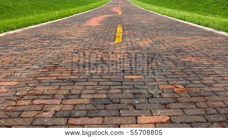 "Route 66: Auburn Brick Road, a.k.a. ""Brick 66"", Auburn, IL"