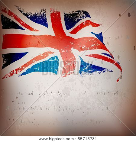 UK,Great Britain flag grunge