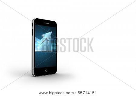 Arrow on smartphone screen