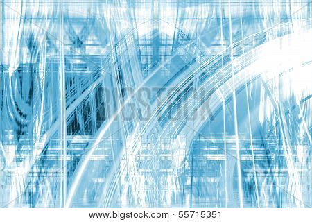 Abstract Blue Trails Background