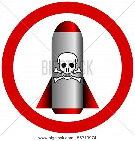 No Chemical Weapon Sign