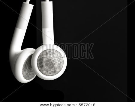 White Earbuds Hanging