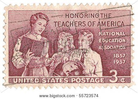 United States Stamp Honoring Teachers of America
