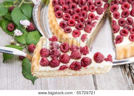 Cake Lifter With Raspberry Tart