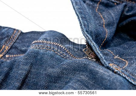 Jeans With Open Zipper