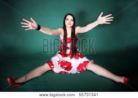 Young Woman With Outstretched Arms