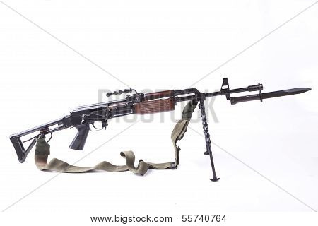 Machinegun With Bayonet