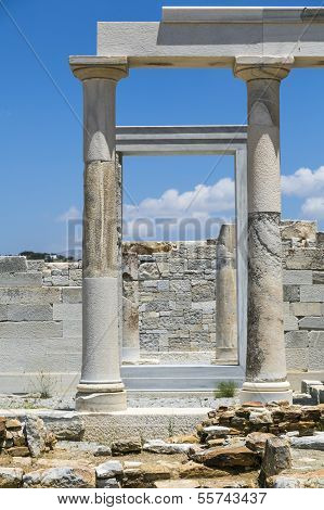 Details Of The Demeter Temple, Shoot In Naxos Greece