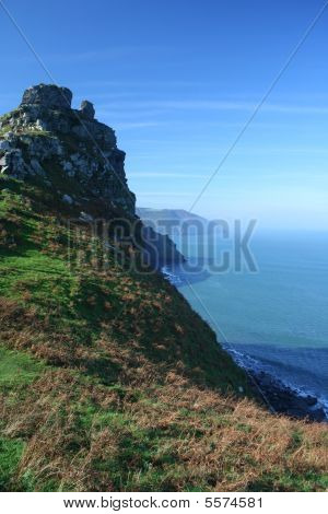 Romantic Misty Devonshire Coastline : Bigstock