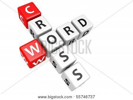 Cross word in cube
