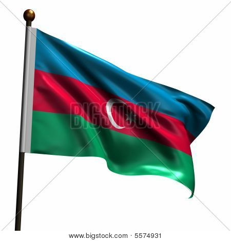 High Resolution Flag Of Azerbaijan
