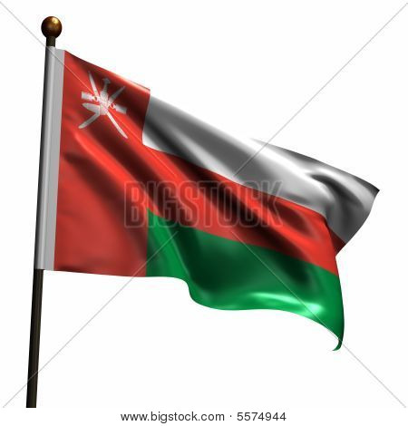 High Resolution Flag Of Oman