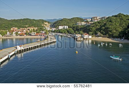 Huatulco Harbor In Mexico