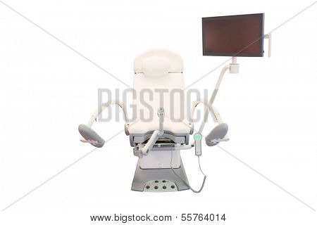 gynecological chair  under the white background