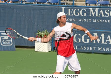 Male Professional Tennis Player Forehand