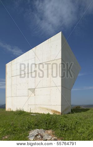 Concrete Monolith. Landscape. Ciudad Real. Spain.