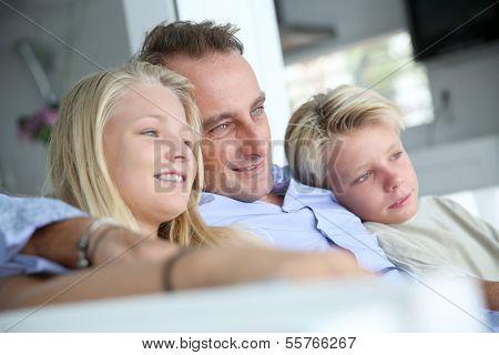 Single daddy enjoying being with kids