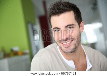 Portrait of smiling attractive man