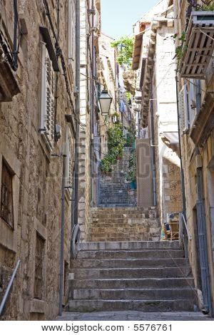 Steps Up Dubrovnik Alley