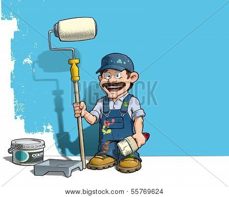 Handyman - Wall Painter Blue Uniform