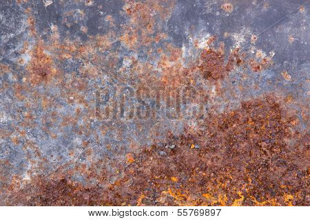 Grungy Old Rusting Metal Surface
