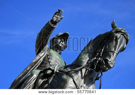 General Dufour statue, Geneva, Switzerland