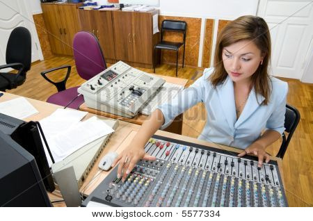 Audio Operator At  Control Console
