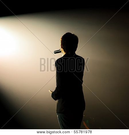 Silhouette Of A Singing