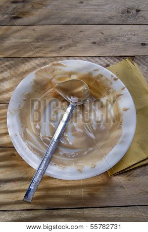 Dirty Plate Of Cream