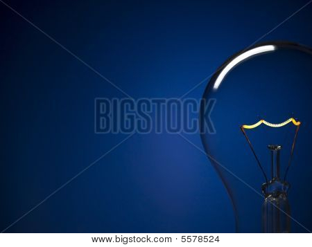 Bulb Light Over Blue