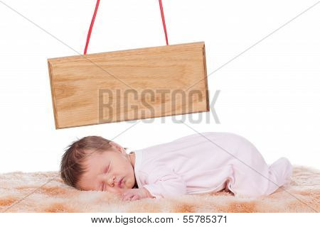 Newborn Baby with name board