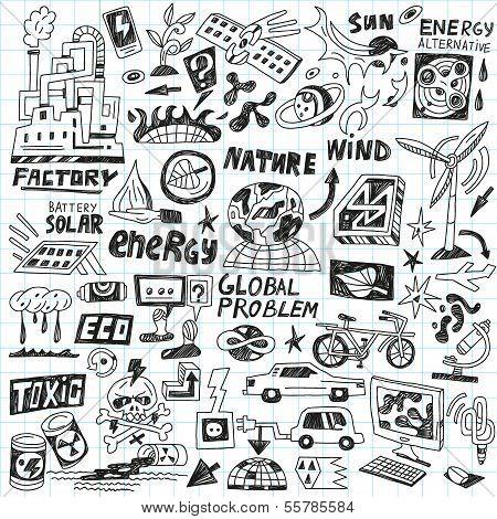 ecology - doodles set