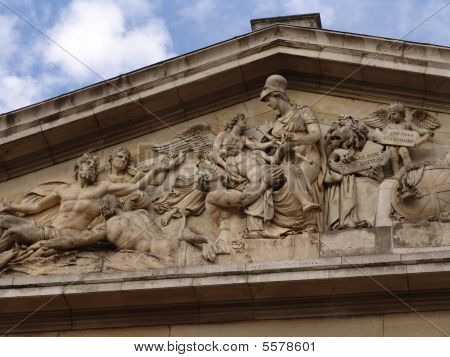 Frieze relief at Old Royal Naval College in Greenwich