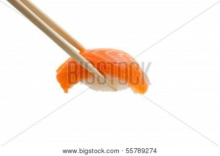 Isolated Salmon Sushi  Nigiri