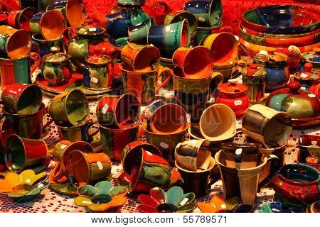 Display of Pottery Ware
