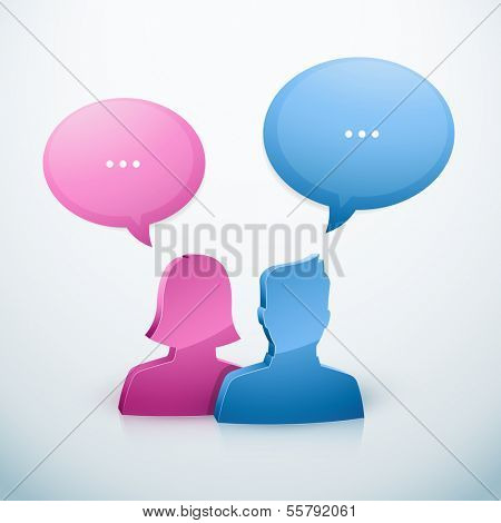 Couple speech bubble icon