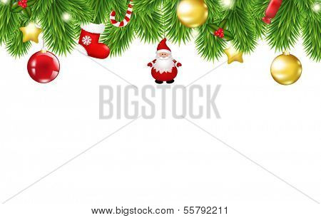 Christmas Framework, With Gradient Mesh, Vector Illustration