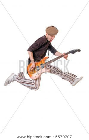 Cool Musician Jumping High