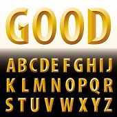 stock photo of grammar  - vector original golden alphabet - JPG