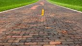 stock photo of auburn  - Auburn Brick Road - JPG