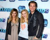 LOS ANGELES - DEC 18:  Ashley Tisdale, Dove Cameron, Luke Benward at the Premiere Of Disney Channel'