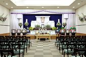 picture of funeral home  - Funeral home interior of traditional japanese style - JPG