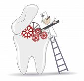 pic of bad teeth  - Abstract Tooth treatment procedure dental conceptual illustration - JPG