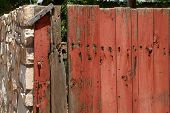 Weathered Gate & Stone Wall poster