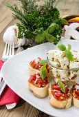 Antipasto (bruschetta And Feta)